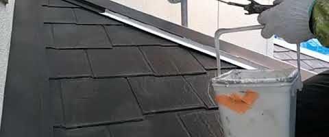 棟板金をキクスイSPパワーサーモプライマーで塗装しました|外壁塗装埼玉県川越市伊勢原町現場で塗替えリフォーム施工中です