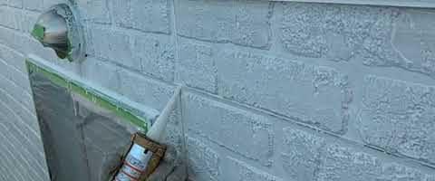 窯業系サイディング壁の下地処理|外壁塗装埼玉県川越市南大塚現場で塗替えリフォーム施工中