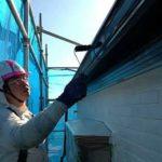 ニッペファインフッソで破風板,軒樋を塗装しました|外壁塗装埼玉県川越市南大塚現場で塗替えリフォーム施工中