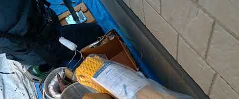 付帯部塗装前のケレン作業|外壁塗装埼玉県川越市南田島現場で塗替えリフォーム施工中