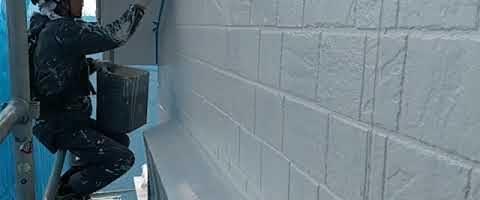 ダイヤスーパーセランフレックスで外壁を塗装しました|埼玉県川越市南田島現場で塗替えリフォーム施工中