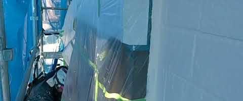 養生バラシ作業|外壁塗装埼玉県川越市南田島現場で塗替えリフォーム施工中