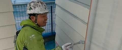 ラップサイディングをKFセミフロンアクアで塗装しました|外壁塗装埼玉県川越市大塚現場で塗替えリフォーム施工中