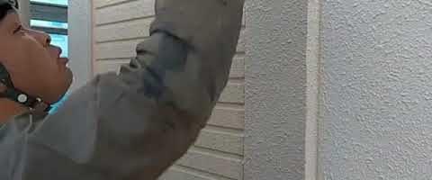 シーリングプライマー塗布作業l埼玉県川越市砂新田現場で塗替えリフォーム施工中