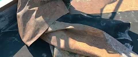 既存シート撤去作業l埼玉県川越市南台現場で塗替えリフォーム施工中