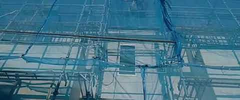 電動ウインチで荷揚げ作業l埼玉県川越市南台現場で塗替えリフォーム施工中
