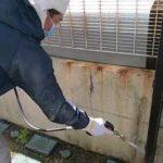 外塀高圧洗浄作業l埼玉県鶴ヶ島市五味ケ谷現場で塗替えリフォーム施工中