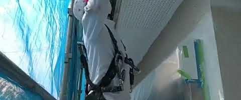雨樋塗装作業l埼玉県川越市久下戸現場で塗り替えリフォーム施工中