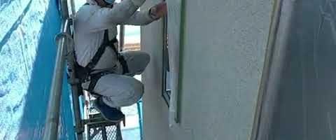 養生作業l埼玉県川越市久下戸現場で塗り替えリフォーム施工中