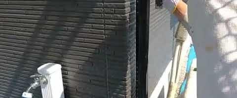 竪樋塗装作業⓶l埼玉県川越市久下戸現場で塗り替えリフォーム施工中