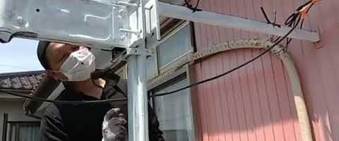 ベランダ塗装作業l埼玉県川越市寺尾現場で塗り替えリフォーム施工中