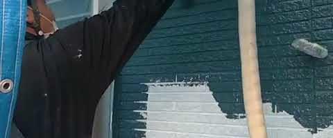 アステック超低汚染リファインMF-IR塗装作業l埼玉県川越市久下戸現場で塗り替えリフォーム施工中